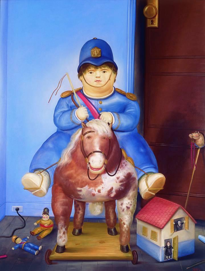 'Pedrito a caballo', exhibida en el Museo de Antioquia. Fernando Botero