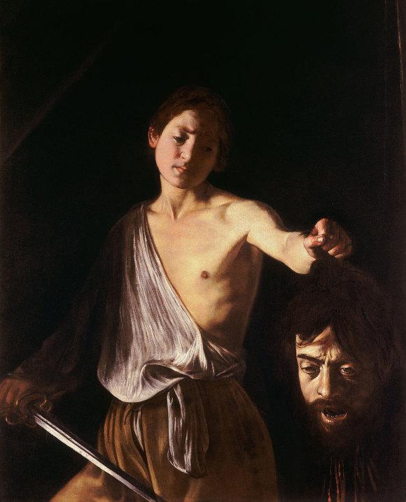 Doble autorretrato de Caravaggio.