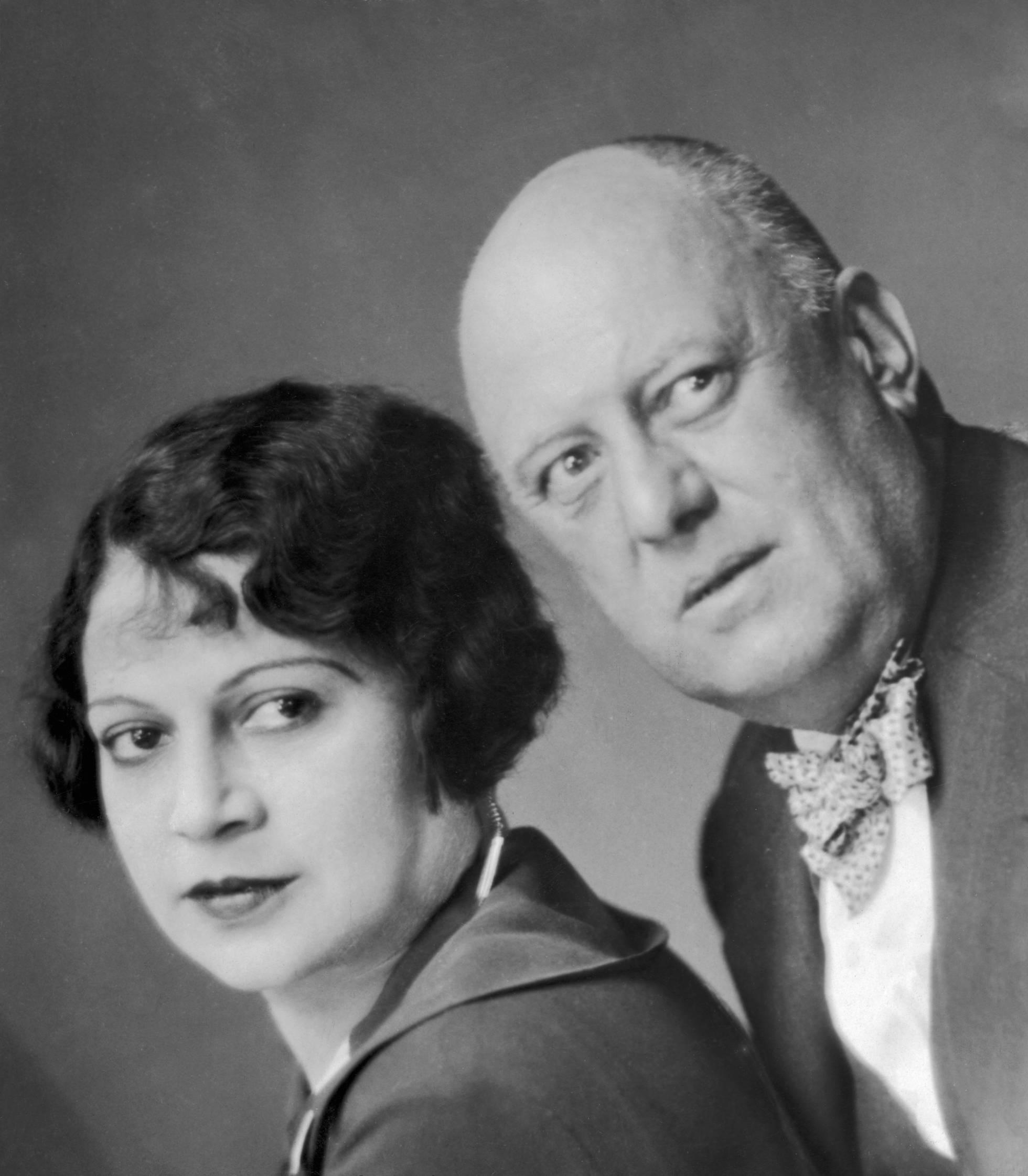 Aleister Crowley con su esposa Maria de Miramar en un retrato de pareja tomado en 1929.Getty Images