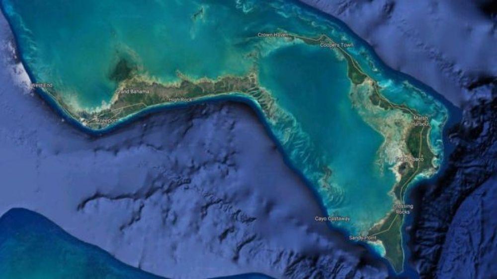 Dorian pasó de Gran Ábaco a Gran Bahamas a un paso más lento que un humano. Foto: Google Maps, vía BBC Mundo